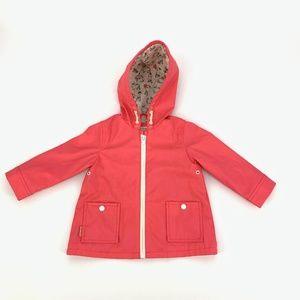 Zara Baby Coral Bunny Lined Raincoat Jacket